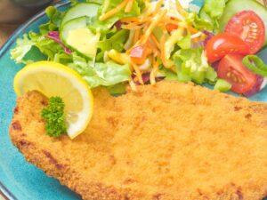 Plate met schnitzel bestellen bij Huisjeboeken.nl